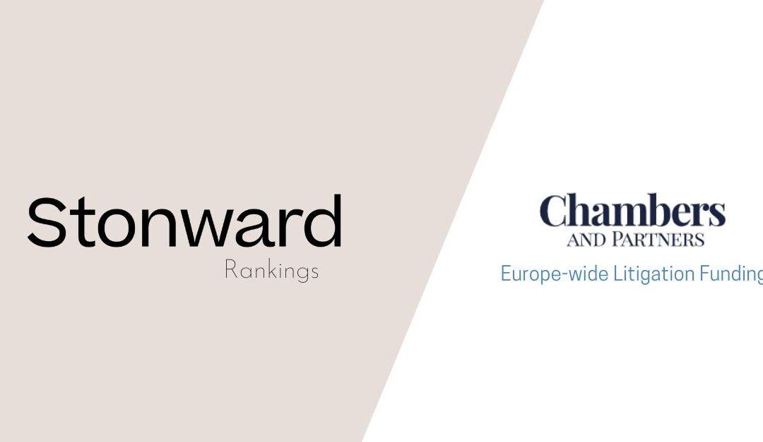 Stonward en el ranking de Chambers & Partners: Litigation Funding (Europe)